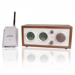 Clock Radio With Hidden Pinhole Color Camera Set